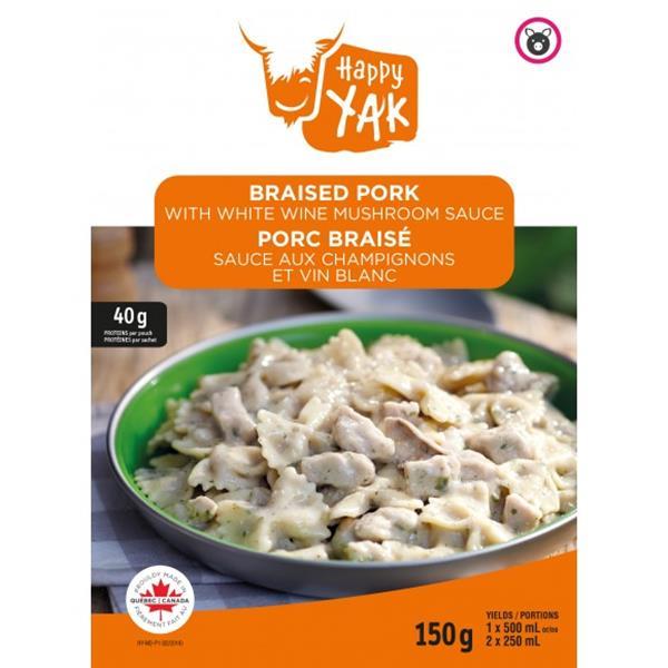 Happy Yak - Braised Pork with White Wine Mushroom Sauce