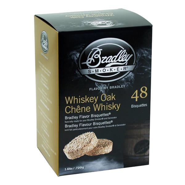 Bradley Smoker - Ensemble de 48 bisquettes pour fumage à saveur de chêne et whiskey