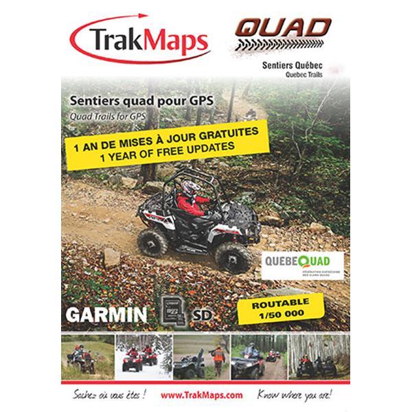 Trak Maps - Carte Quad Québec pour GPS Garmin