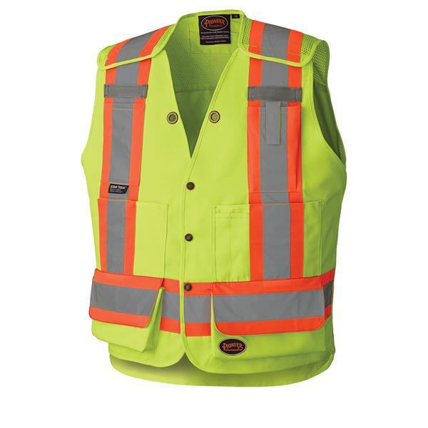 Pioneer - Hi-Viz Drop Shoulder Tear-Away Surveyor's Safety Vest