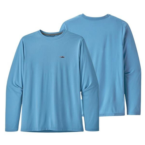Patagonia - Chandail à manches longues Capilene Cool Daily Fish Graphic pour homme