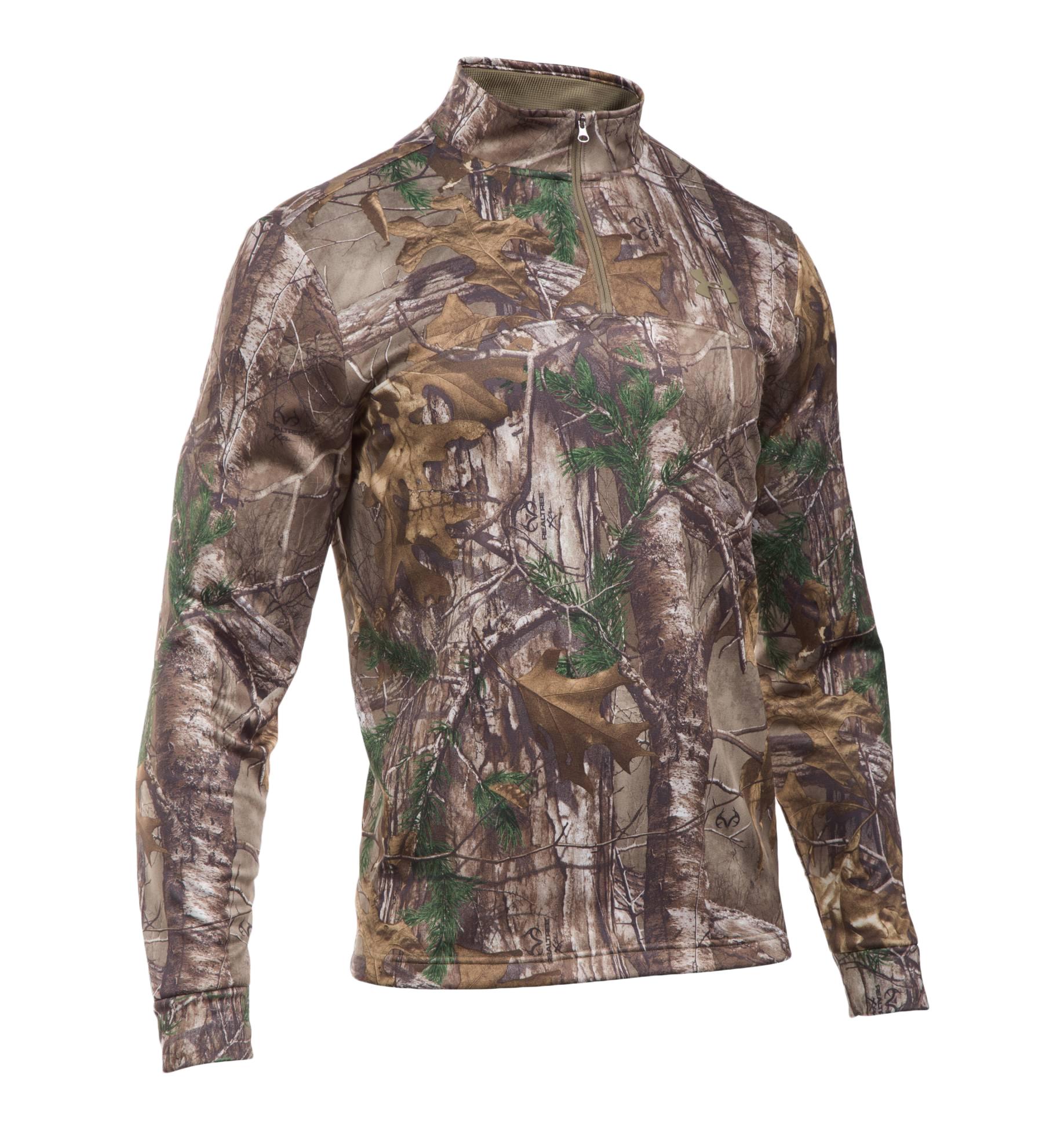 Under Armour UA Heat Gear Mens Long Sleeve 1//4 Zip Loose Shirt LARGE XL