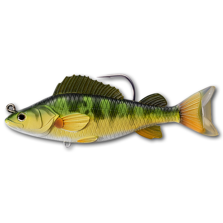 New LiveTarget Yellow Perch Swimbait  4 1//2 3//4 oz yellow//green YPS113MS714