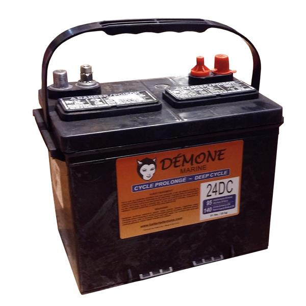 Démone - Deep-cycle battery 24DC 12 volts