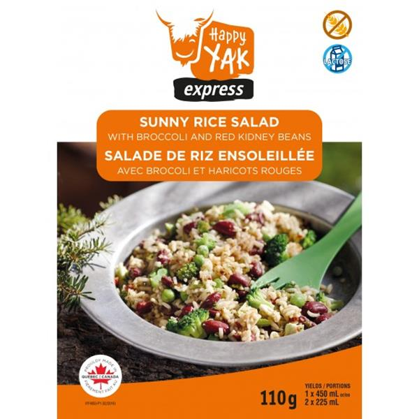 Happy Yak - Sunny Rice Salad with Broccoli and Red Kidney Beans