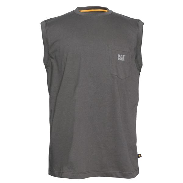 8d3463a6480 Caterpillar - Men s Trademark Sleeveless T-Shirt. Grey