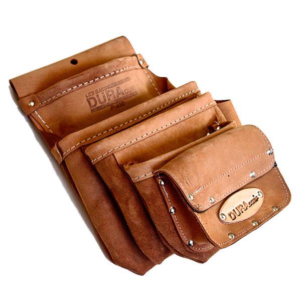 Dura Cuir - 4 Pockets Pouch +Set Square Holder +1 Pocket Velcro
