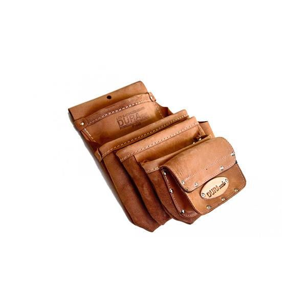 Dura Cuir - 4 Pockets Pouch +Set Square Holder +1 Pocket Velcro