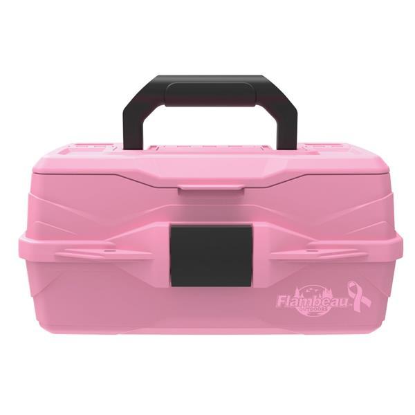 Flambeau - Classic 1-Tray Pink Ribbon Fishing Box