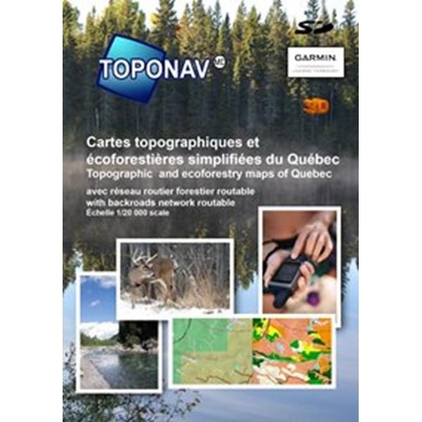 Toponav - Cartes topographiques et écoforestières simplifiées du Québec