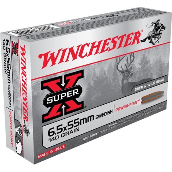 Winchester - Balles Super X 6.5x55mm Swedish 140gr