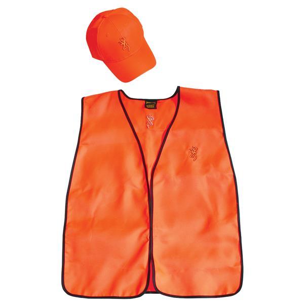 Browning - Ensemble casquette et veste de sécurité pour chasseur