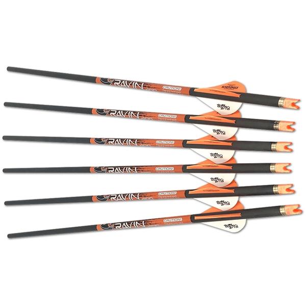 Ravin Crossbows - Ensemble de 6 flèches Ravin 400 gr