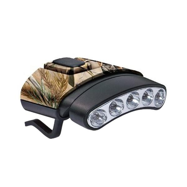 GSM Outdoors - Cyclops Tilt Camo 5 LED Hat Clip Light