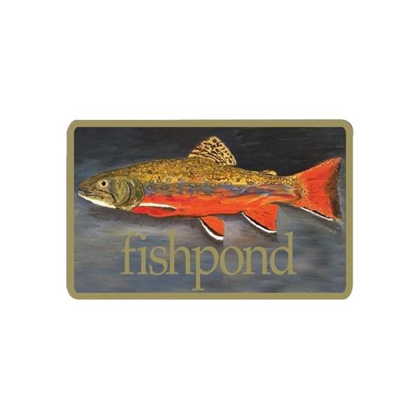 Fishpond - Autocollant Brookie
