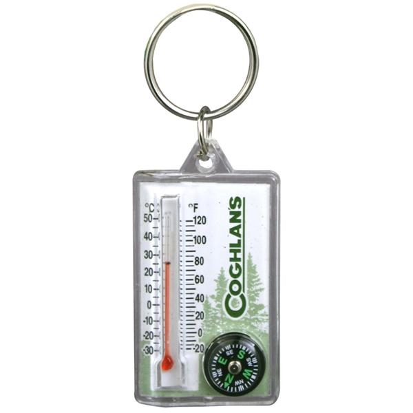 Porteclés Avec Boussole Et Thermomètre Coghlans Latulippe - Porte clé avec photo