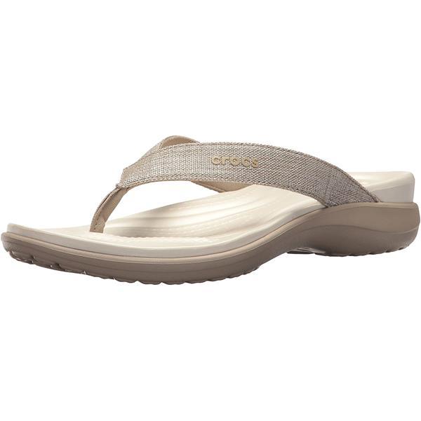 Crocs - Women's Capri V Shimmer Flip Sandals