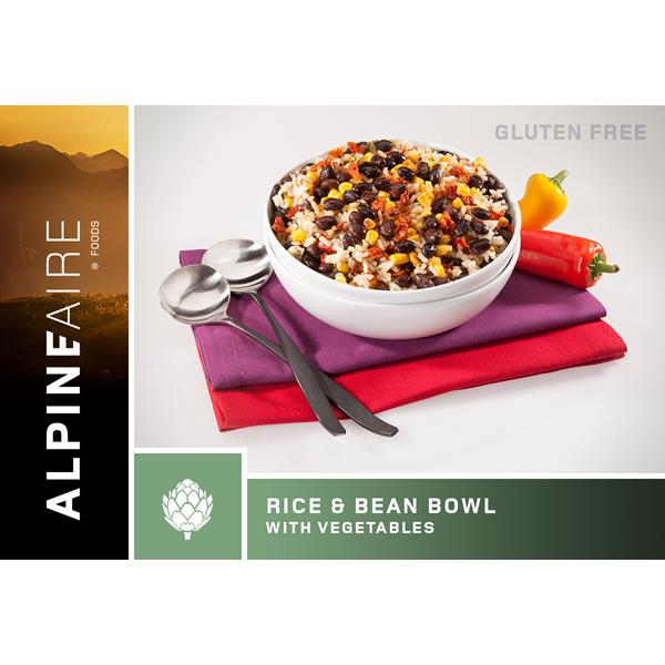 Alpine Aire Foods - Rice & Bean Bowl with Vegetables.