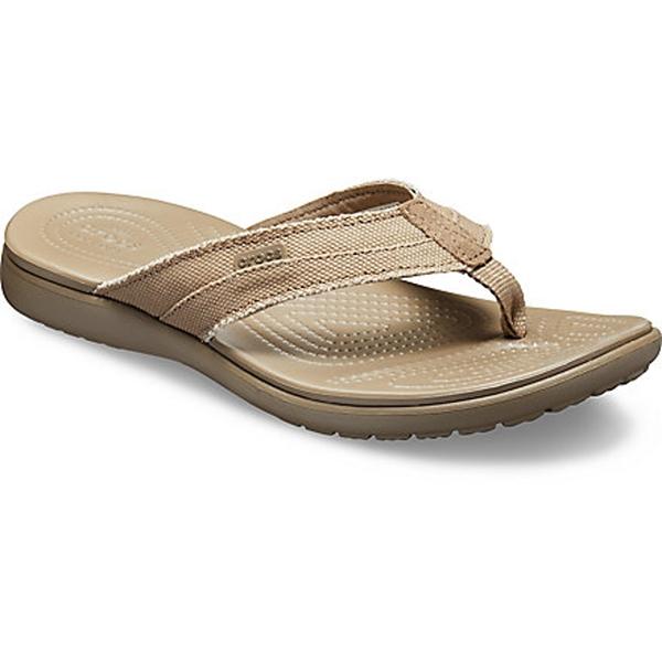 Crocs - Sandales Santa Cruz Canvas Flip pour homme