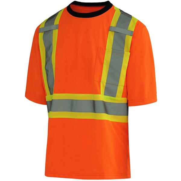 10/4 Job - T-shirt Polycoton Bandes