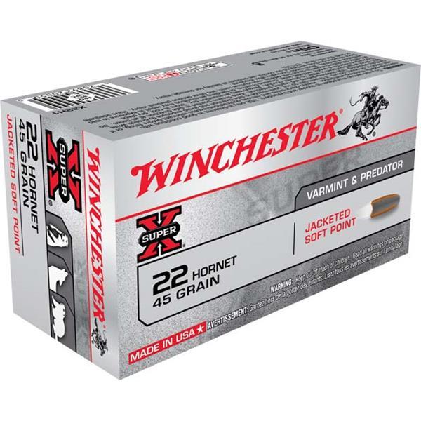 Winchester - Balles Super X .22 Hornet 45gr