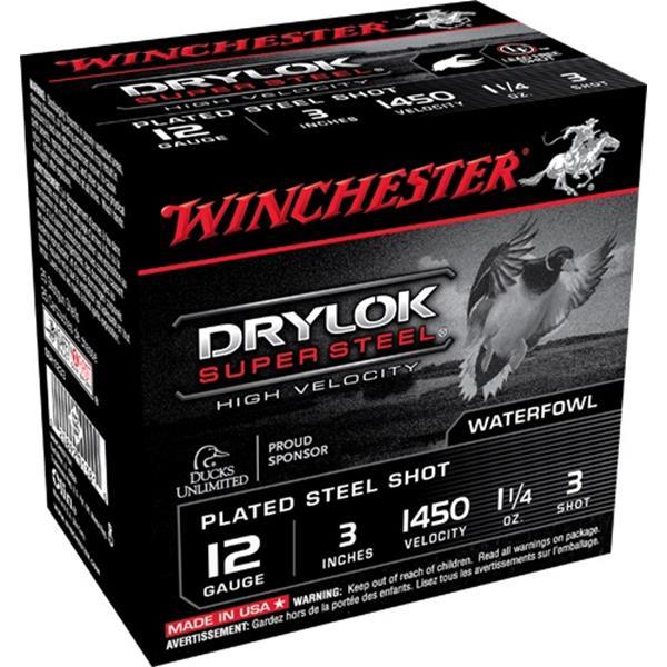 "Winchester - Cartouches Drylok Super Steel 12 Ga 3"" #3"