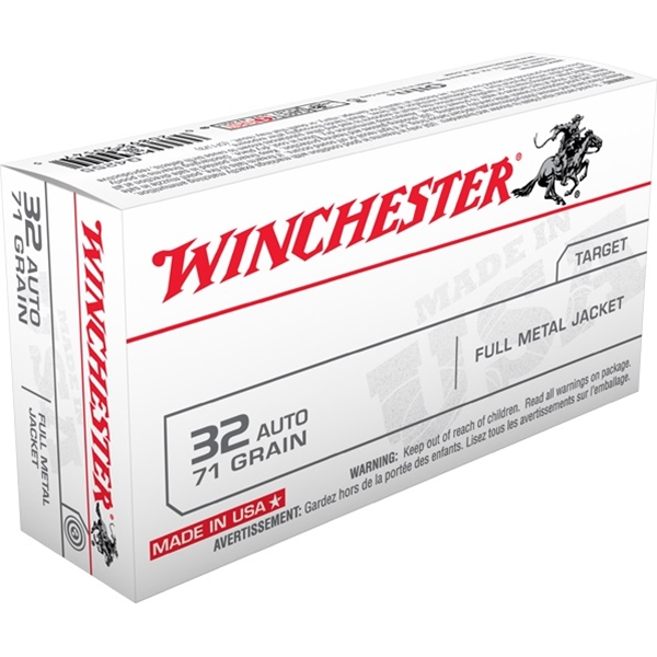 Winchester - .32 ACP 71gr Full Metal Jacket Ammunition