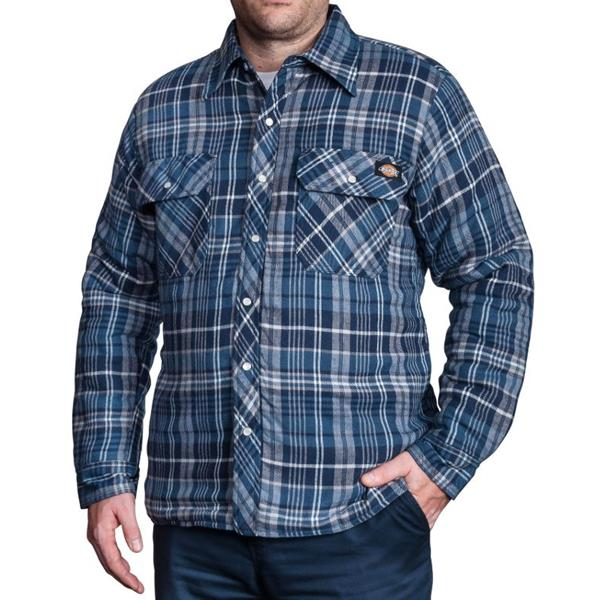 Dickies - Men's Quilted Snap Front Plaid Shirt