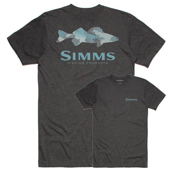 Simms - T-shirt Walleye Hex Flo Camo pour homme