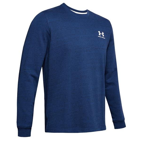 Under Armour - Men's Sportstyle Terry Logo Crew Long Sleeve Shirt