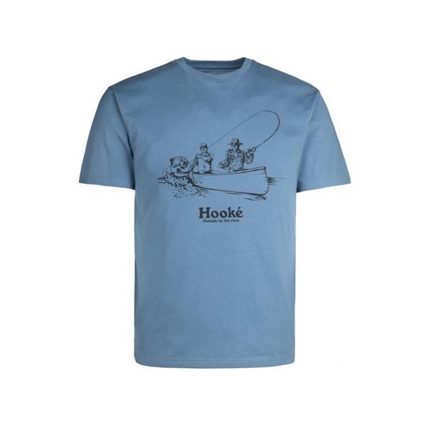 Hooké - T-Shirt Fish On Bleu Pierre