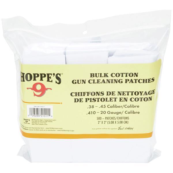 Bushnell - Tampon nettoyant Hoppe's pour arme à feu de calibre .38 - .45
