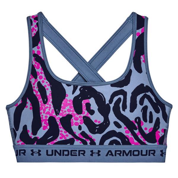 Under Armour - Soutien-gorge de sport Armour Mid imprimé et croisé dans le dos pour femme