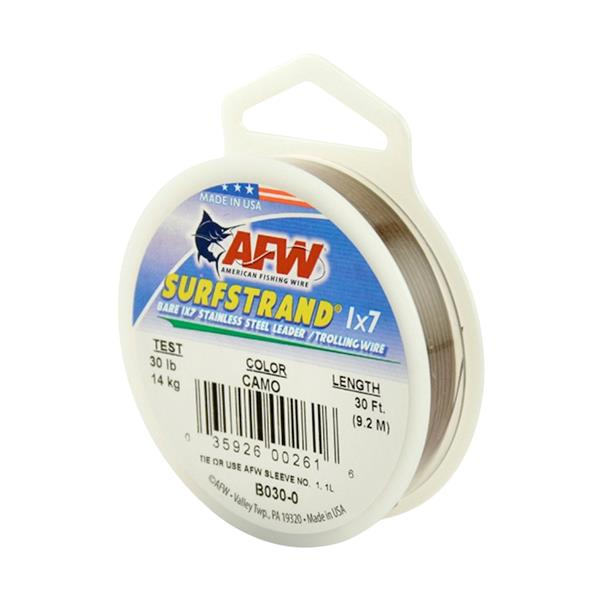 American Fishing Wire - Surfstrand Bare 1x7 Stainless Steel Leader Wire