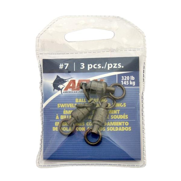 American Fishing Wire - Solid Brass Ball Bearing Swivels with Double Welded Rings