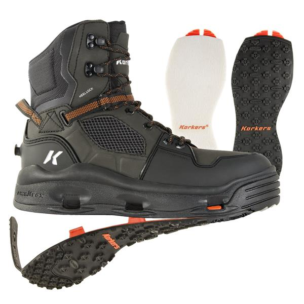 Korkers - Terror Ridge Fishing Boots with Felt and Kling-on Outsoles