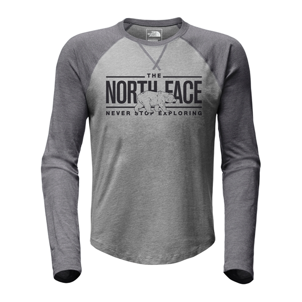 The North Face - T-shirt à manches longues Raglan Baseball pour homme