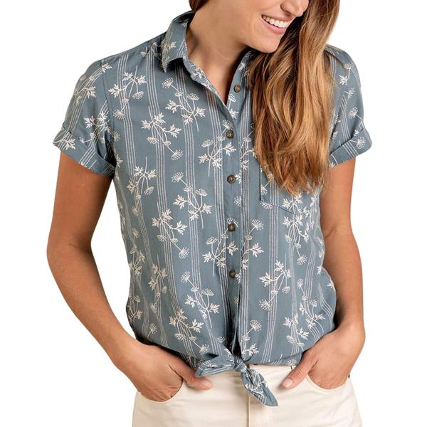 Toad and Co. - Chemise à manches courtes Willet Tie pour femme