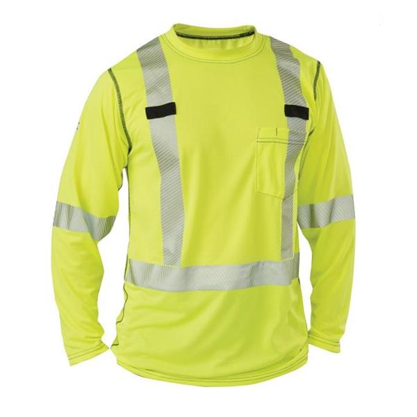Big Bill - Men's RT55HVK5 High Visibility Long Sleeve Shirt
