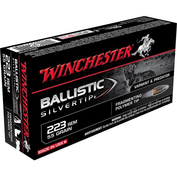 Winchester - Balles Ballistic Silvertip 223 Rem 55gr