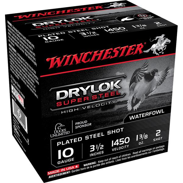 "Winchester - Cartouches Drylok Super Steel 10 Ga 3 1/2"" #2"