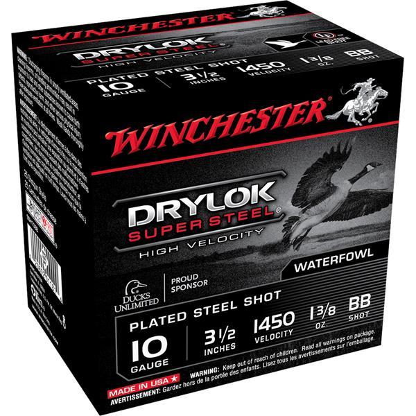 "Winchester - Cartouches Drylok Super Steel 10 Ga 3 1/2"" BB"