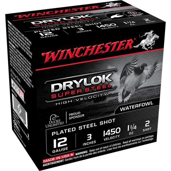 "Winchester - Cartouches Drylok Super Steel 12 Ga 3"" #2"