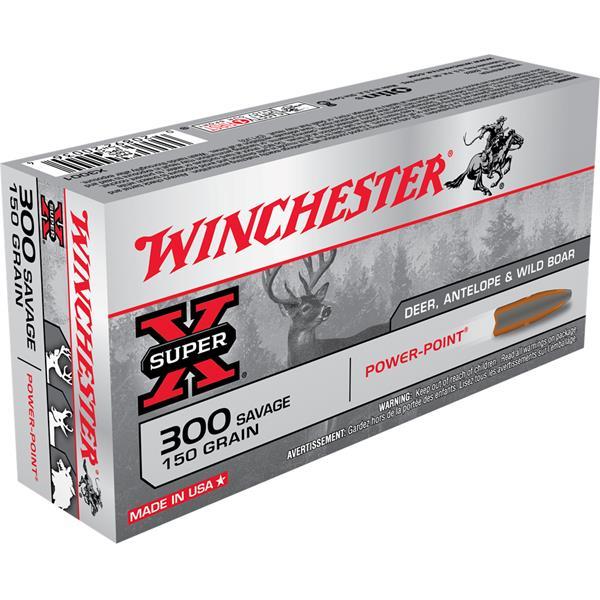 Winchester - Balles Super-X 300 Savage 150gr